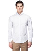 Рубашка Brunello Cucinelli 1716 100% хлопок Бледно-сиреневый Италия изображение 1