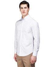 Рубашка Brunello Cucinelli 1716 100% хлопок Бледно-сиреневый Италия изображение 2