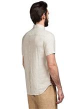Рубашка Missoni 532071 100% лён Терракотовый Албания изображение 3