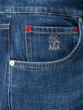 Джинсы Brunello Cucinelli X1290 100% хлопок Синий Италия изображение 4