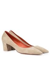 Туфли Santoni WDAC55610 100% кожа Серо-бежевый Италия изображение 6