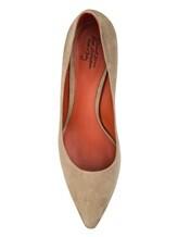 Туфли Santoni WDAC55610 100% кожа Серо-бежевый Италия изображение 4