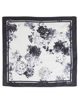 Платок Les Copains Blue 0JA010 100% шёлк Черно-белый Италия изображение 1