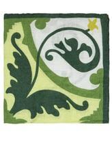 Платок L.B.M. 1911 6575 100% лён Зеленый Италия изображение 0