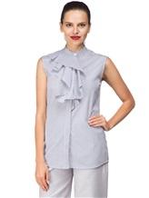 Рубашка ANTONELLI AGRIGENT0T2337 100%хлопок Бело-синий Италия изображение 0