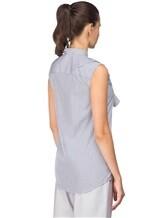 Рубашка ANTONELLI AGRIGENT0T2337 100%хлопок Бело-синий Италия изображение 3