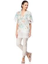 Платье Les Copains 0R5060 100% шёлк Бело-зеленый Италия изображение 0