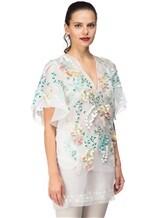 Платье Les Copains 0R5060 100% шёлк Бело-зеленый Италия изображение 2