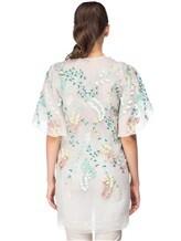 Платье Les Copains 0R5060 100% шёлк Бело-зеленый Италия изображение 3