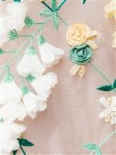 Платье Les Copains 0R5060 100% шёлк Бело-зеленый Италия изображение 4