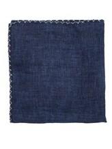 Платок Brunello Cucinelli 0091 100% лён Темно-синий Италия изображение 0