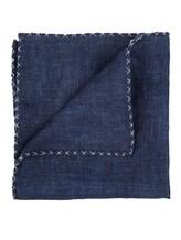 Платок Brunello Cucinelli 0091 100% лён Темно-синий Италия изображение 1
