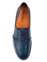 Ботинки Santoni MGMG15530 100% кожа Темно-синий Италия изображение 4