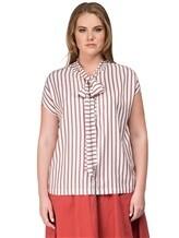 Блуза Brunello Cucinelli F7501 100% шёлк Лиловый Италия изображение 1