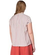 Блуза Brunello Cucinelli F7501 100% шёлк Лиловый Италия изображение 3