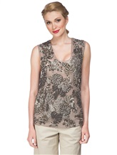 Блузка FAY NPWB434582E 100% шёлк Серо-бежевый Италия изображение 0