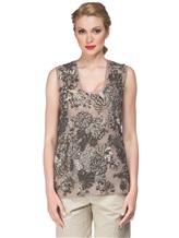 Блузка FAY NPWB434582E 100% шёлк Серо-бежевый Италия изображение 1