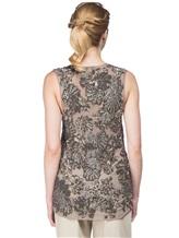 Блузка FAY NPWB434582E 100% шёлк Серо-бежевый Италия изображение 3