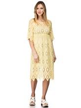 Платье 120% Lino L0W4659 100% хлопок Желтый Болгария изображение 0