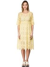 Платье 120% Lino L0W4659 100% хлопок Желтый Болгария изображение 1