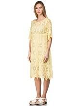 Платье 120% Lino L0W4659 100% хлопок Желтый Болгария изображение 2
