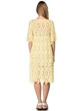 Платье 120% Lino L0W4659 100% хлопок Желтый Болгария изображение 3