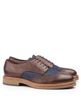 Ботинки Brunello Cucinelli 168 100% кожа Сине-коричневый Италия изображение 0