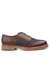 Ботинки Brunello Cucinelli 168 100% кожа Сине-коричневый Италия изображение 1