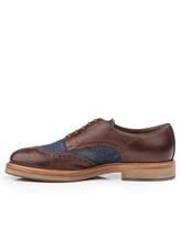 Ботинки Brunello Cucinelli 168 100% кожа Сине-коричневый Италия изображение 2