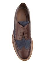 Ботинки Brunello Cucinelli 168 100% кожа Сине-коричневый Италия изображение 4