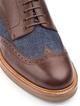 Ботинки Brunello Cucinelli 168 100% кожа Сине-коричневый Италия изображение 5