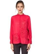Блуза Tsumori Chisato TC77FJ023 100%хлопок Красный Индия изображение 1