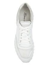 Кроссовки Santoni WBVC60176 100% кожа Белый Италия изображение 4