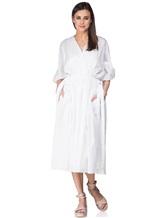 Платье Agnona R9590X 100%хлопок Белый Италия изображение 0