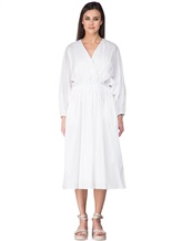 Платье Agnona R9590X 100%хлопок Белый Италия изображение 1