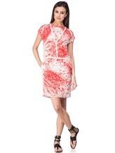 Платье Les Copains 005165 100% шёлк Красно-белый Словакия изображение 0