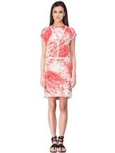 Платье Les Copains 005165 100% шёлк Красно-белый Словакия изображение 1