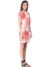 Платье Les Copains 005165 100% шёлк Красно-белый Словакия изображение 2
