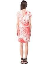 Платье Les Copains 005165 100% шёлк Красно-белый Словакия изображение 3
