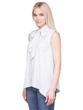 Рубашка Brunello Cucinelli N7006 96% хлопок, 4% лён Белый Италия изображение 2