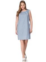 Платье Lorena Antoniazzi LP3131X1 96% шерсть/ 4% эластан Серо-голубой Италия изображение 0