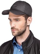 Бейсболка Mandelli CAP401 52% лён, 41% шерсть, 7% шёлк Серо-коричневый Италия изображение 1