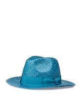 Шляпа EREDA 15/ED-078 100% солома Темно-бирюзовый Италия изображение 0
