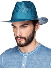 Шляпа EREDA 15/ED-078 100% солома Темно-бирюзовый Италия изображение 1