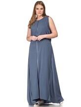 Платье Lorena Antoniazzi LM31108X1 100% шёлк Серо-синий Италия изображение 0