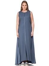 Платье Lorena Antoniazzi LM31108X1 100% шёлк Серо-синий Италия изображение 1