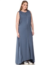 Платье Lorena Antoniazzi LM31108X1 100% шёлк Серо-синий Италия изображение 2