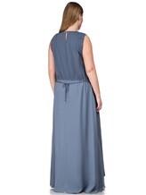 Платье Lorena Antoniazzi LM31108X1 100% шёлк Серо-синий Италия изображение 3