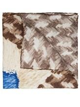 Платок Franco Bassi U17E 100% шёлк Бежевый Италия изображение 1