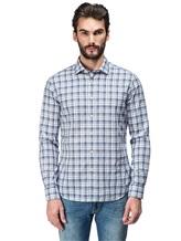 Рубашка XACUS 719ML 96% хлопок, 4% полиамид Бело-синий Италия изображение 1